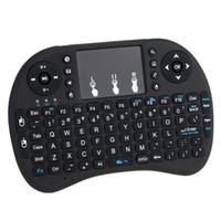 I8 Hava Fare Kablosuz El Klavye Mini 2.4GHz Dokunmatik Uzaktan Kumanda İçin MX CS918 MXIII M8 TV BOX Oyun Oyna Tablet