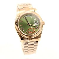 Luxury Brand 41mm 18K Rose Gold President Day- Date Sapphire ...