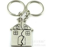 2백쌍 / 많은 빠른 무료 배송 커플 선물 로맨틱 하우스 키 체인 개인 열쇠 고리 발렌타인 데이 사랑 열쇠 고리 (Key Fob)를 페덱스