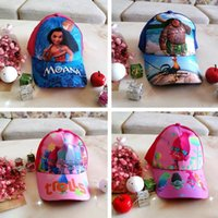 New Moana And Snow Princess Hat Cap Baseball Caps Children M...