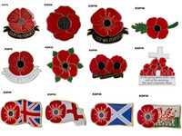 Poppy Flower Lapel Pin Badge 10st Mycket Pin Badge Gratis frakt