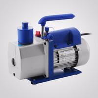 R410A R134A R22 4.8 CFM 공기 진공 펌프 HVAC A / C 냉매 W / 4 밸브 매니 폴드 게이지 1 / 3HP 진공 펌프