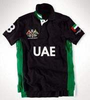 Novos homens da marca Big Horse tops de algodão tees Mens Esporte camisa de Tênis de Algodão UAE SUI camisas Polo Camisa de Corrida Polos roupas Dos Homens