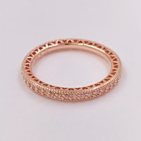 Rose Gold Plated & 925 Sterling Silver Ring Hearts Of Brand ...