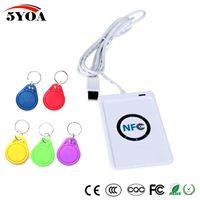 USB ACR122U NFC RFID Smart 13.56 МГц считыватель карты писатель Copier Duplicator для NFC (ISO / IEC18092) теги + 5 шт. UID изменяемый тег