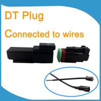 10 conjuntos Preto Deutsch DT Conectores Kit DT 2 Conectores de Pin Kits Adaptadores Hot conector Genuine TERMINAIS Kit DT04-2P NÍQUEL