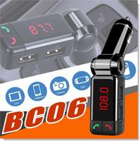 BC06 شاحن سيارة عالية الأداء الرقمي اللاسلكي بلوتوث وزير الخارجية الارسال في السيارة بلوتوث استقبال راديو FM ستيريو محول