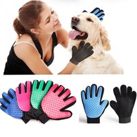 Five Fingers True Touch Dog Cat Cleaning Gloves Silicone Des...