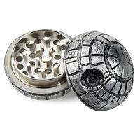 Tabaco Fumar Herb Grinders Três Camadas de Alumínio Grinder 100% Metal dia 2 polegadas têm alta qualidade - Cig Esqueleto Personalizado Gravado