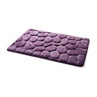 Оптово-булыжник Мягкий коврик для ванной 60 * 40 см. Коврик для ванной не скользит 4 цвета Современный коврик для ванной комнаты Коврик для ванной 1407 40 * 60 СМ