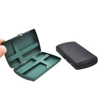 Caja de cigarrillos metálicos (91 * 54 * 20 mm) con 12 cigarrillos de tamaño regular (85 mm * 8mm) caja de caja de tabaco con 2 clips de color mezclar