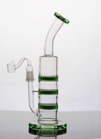 최고의 녹색 기억 만 세 Fliter 퍼크 리사이클 유리 물 파이프 삼중 레이어 봉 저렴한 두꺼운 살짝 적셔 굴착 무료 배송