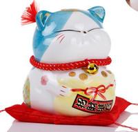Kirghizistan bonne main électrique en céramique Lucky Cat grand magasin a ouvert la décoration de caissier cadeau 13CM