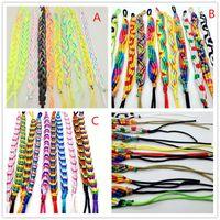 الجملة اليدوية متعدد الألوان الصداقة حبل سوار الكفة الأساور المجوهرات لرجل إمرأة هدية سوار