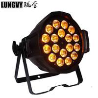 Mejor precio Led Par Can Light 18 * 18W 6in1 RGBWA UV LED Interior PAR64 Light Big Show Evento Club Colorido fondo DJ Led Light