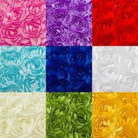 3D Rosette Flower Embroidery Lace Fabric,Wedding Party Decorate Chair Cover  Table Sewing Patchwork Material Cloth Width120cm