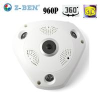 Z-BEN 1.3MP 960 P Wifi IP Kamera 360 Derece Panoramik Kamera Ev Güvenlik Video Gözetim Gece Görüş Balıkgözü Gözetleme IP Kamera