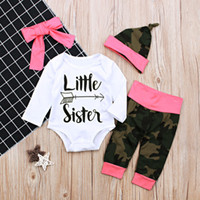 2018 Spring Autumn Little Sister 4Pcs Newborn Baby Girls Lon...