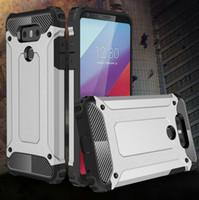 Housse de protection blindée hybride pour LG G5 G6 K4 K5 K7 K8 K10 en fibre de carbone Couverture en silicone antichoc Dur Dur Armure hybride