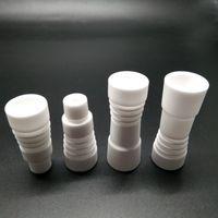 14mm / 18mm Masculino ou Feminino Unhas De Cerâmica Domeless Prego Cerâmica Com Tampa do Carburador VS Titanium Quartz Prego para Acessórios De Fumo De Vidro