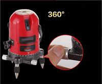Freeshipping 110-240V 5 linee 6 punto di livello laser rotante laser a croce livello di linea laser orizzontale e verticale può essere utilizzato all'aperto