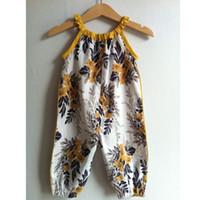 Ins bebês bebês macacões flor romper menina floral botão impresso recém-nascido roupas de bebê A0513
