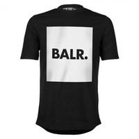 BALR camiseta hombre de alta calidad 2019 moda camiseta BALRED hombres 100% algodón de manga corta marca de ropa de fondo redondo larga espalda balr camiseta