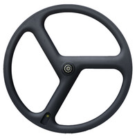 Frete grátis Rodas De Carbono Completo 3 Raios Clincher Carbono Wheelset tri-raio rodas de carbono Trilha / Triathlon / Time Trial Road Bike Rodas