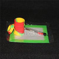 1 세트 실리콘 왁스 키트 정사각형 패드 매트 배럴당 드럼 26ml 실리콘 오일 컨테이너 dabber 도구 건조 허브 항아리에 대 한 설정