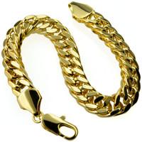 Bracelete fresco B119 da largura dos 10mm dos homens de GF 18K ouro de 18K