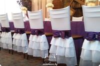 Spandex 2016 Blanc Arc Vintage Chaise Ceintures Romantique Belle Chaise Couvre Pas Cher Sur Mesure Fournitures De Mariage
