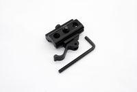 Desmontaje rápido Liberación Bipod Sling Swivel Adapter QD Desmontable rápido para 20 mm Picatinny Weaver Rail Caza Accesorios