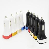 Dual usb carregador de carro cor micro mini 2 usb adaptador de adaptador de energia auto carro para telefone inteligente celular samsung s4 note 3 htc