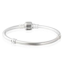100% real 925 sterling silver snake chain bracelet withh log...