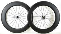 Frete grátis 700C rodas De Carbono Completo 88mm profundidade 25mm largura clincher bicicleta de estrada / rodado de carbono tubular 3 K acabamento fosco U-forma aro