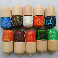 Full Crack Kendama Ball Toy Pill Shape with 5 holes beech Wo...