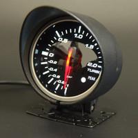 60mm 2.5 Inç DEFI BF Tarzı Yarış Göstergesi Araba Turbo Boost Ölçer Kırmızı Beyaz Işık Sensörü ile