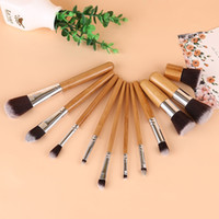 HOT Makeup Brushes 11 PCS Professional Bamboo Makeup Brush S...