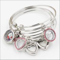 Raccord flottant extensible de bracelet de bracelet de médaillon d'acier inoxydable avec des charms de flottement de DIY pour des filles