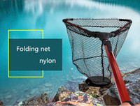 1pcs of Foldable Fishing Hand Net Aluminum Alloy Handle Sili...