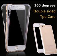 360-Grad-Ganzkörper-weiche TPU-Handy-Kasten-Vorderseite Rückseite TOUCH TOUCH CLARE Hüllen für iPhone X XS MAX XR 8 7 6 6S PLUS SAMSUNG S9 S8 PLUS