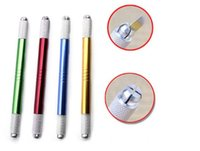 Semi permanent tattoo pen pen: double hand embroider eyebrow...