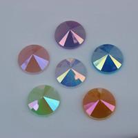 200 قطع 12 ملليمتر ab جيلي اللون جولة الاكريليك الراين كريستال شقة عودة الخرز diy مجوهرات اكسسوارات الملابس ZZ61