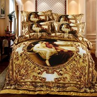 100cotton luxury 3d bedding set western style bedclothes bedlinen double queen size 4pcs bedcover duvet cover bedsheet set