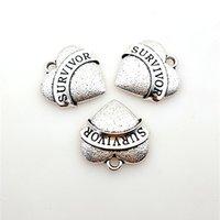 Heiße Nachricht Diy Charms Legierung SURVIVOR Vintage Charms für Halskette Armband Armreif machen inspirierende Schmuck
