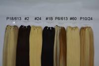 Trama dei capelli lisci 100 Estensioni per capelli umani P27 / 613 P8 / 613 P10 / 24 P18 / 613 Brasiliano Pianoforte Piano Color Body Wave Weaves Weaves 3bundles / lot