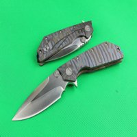 New MI D2 version of the Fire board folding knife titanium a...