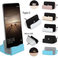 Tip C Mikro Yerleştirme Standı İstasyonu Cradle Şarj Dock Şarj Samsung Galaxy S6 S7 Kenar S8 S10 Not 10 HTC Android Telefon Kutusu Ile