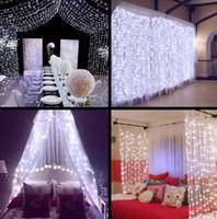 Lumières de Noël 3x3 / 6x3m 300 LED glaçons de cordes de cordes LED Xmas Fairy s'allume à la maison de plein air pour mariage / fête / rideau / décor de jardin