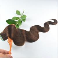 Extensions de cheveux de trame de couleur pure bande de cheveux 20 PCS Body Wave